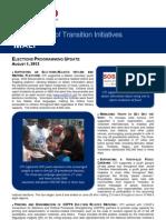 USAID/OTI's Mali Elections Programming Through Runoff 08/2013