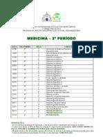 Cronograma - Anatomia I - PUC Minas - Medicina