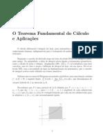 O Teorema Fundamental do Cálculo e Aplicações
