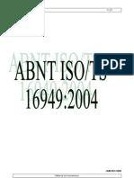 ABNT ISO TS 16949-2004