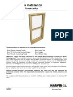 Wood Window Installation Instructions