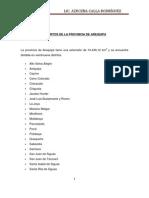 Distritos de Arequipa