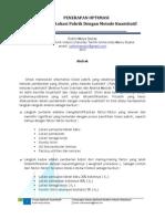 Kerja Praktek - Penerapan Optimasi Pemilihan Lokasi Pabrik Dengan Metode Kuantitatif