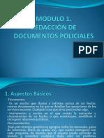 REDACCIÓN DE DOCUMENTOS POLICIALES