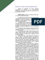 DECRETO ESTADUAL Nº 42.838 DE 1998