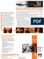 BSU English Graduate Program Brochure