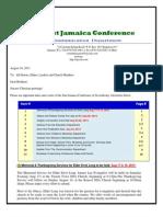 Communication Advisory for August 17, 2013