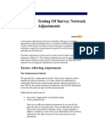 Testing of Survey Network Adjustments