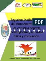 Consejo Deportivos Comunales Estructura