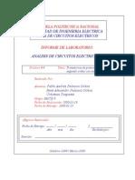 Informe 06 de Análisis de Circuitos Eléctricos II