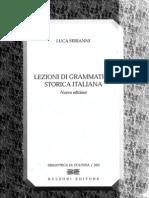Lezioni di grammatica storica italiana Luca Serianni