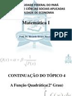 Aula 04 - Inequações do Segundo Grau, Octave, Função Exponencial