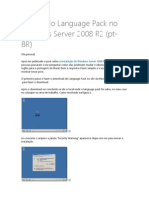 Instalando Language Pack No Windows Server 2008 R2