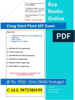 Books for Vizag Steel Plant Management Trainee Exam