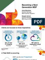 IBM® Edge2013 - Becoming a Next Generation MSP