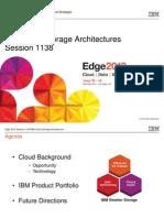 IBM® Edge2013 - IBM Cloud Storage Architectures