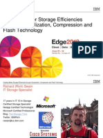 IBM® Edge2013 - Storage Efficiencies through Virtualization Compression and Flash