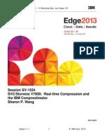 IBM® Edge2013 - SVC Storwize V7000 Real-time Compression