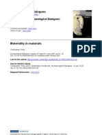 Tilley Materiality in Materials 2007