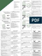 Manual Alarme da clínica DC72