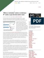 G1 – Segurança digital – Altieres Rohr » 'Mitos e verdades' sobre o endereço IP_ saiba o que ele diz sobre você » Arquivo
