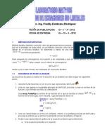 Solucion de Ecuaciones No Lineales