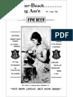Anheuser Busch Fine Beer 1895