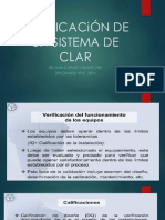 CALIFICACiÓN DE UN SISTEMA DE CLAR