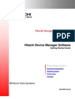 Hitachi® Device Manager Software - Getting Started - HC1493