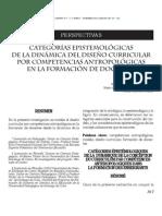 CATEGORÍAS E´PISTEMOLÓGICAS DE LA DINÁMICA DEL DISEÑO CURRICULAR POR COMPEGTENCIAS ANTROPOLÓGICAS EN LA FORMACIÓN DE DOCENTES
