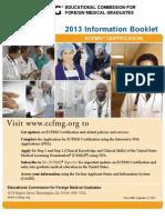 ECFMG Information Booklet 2013