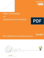 Open Innovation vs Experience Co-creation