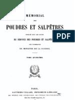Mémorial des poudres et salpêtres, tome 15, 1909-1910 - France