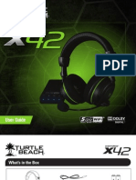 Turtle Beach X42 UserGuide ENGLISH