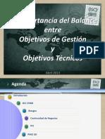 Balance Objetivos de Gestión y Objetivos Técnicos