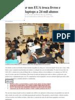 Distrito Escolar Nos EUA Troca Livros e Cadernos Por Laptops a 24 Mil Alunos