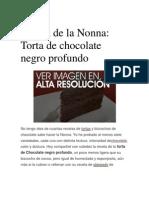 Recetas de Torta de Chocolate