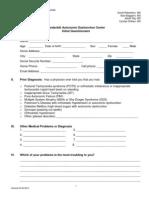 Autonomic Dysfunction Questionnaire