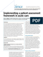 Implementing a Patient Assessment Framework in Acute Care