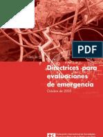 Directrices Para Evaluaciones de Emergencia Cruz Roja
