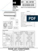 Hitachi Manual RAS_RAC-18-25YH6