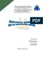 Trabajo Fisico Quimico Equilibrio Quimico en La Solucion Ideal