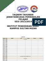 Taqwim Lengkap JPP Sesi 2013 & 2014
