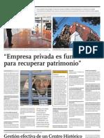 """""""La empresa privada es fundamental para recuperar patrimonio"""""""