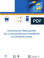Politicas de Financiacion de La Educacion Que Favorecen La Cohesion