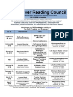 Tar River Reading Council 2013-2014 Meeting Schedule