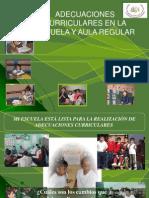 Adecuaciones Curriculares en La Escuela y El Aula