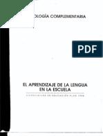 El Aprendizaje de La Lengua en La Escuela Ac