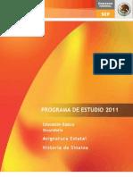 Programa de Historia de Sinaloa 2011