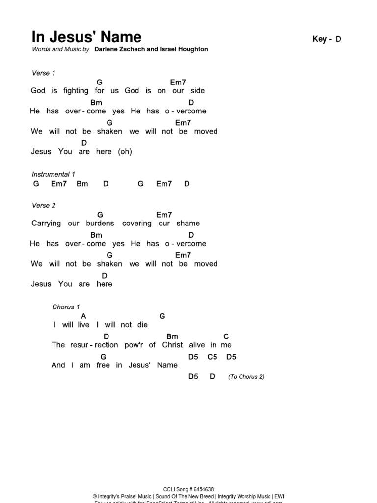 In jesus name chords d hexwebz Choice Image